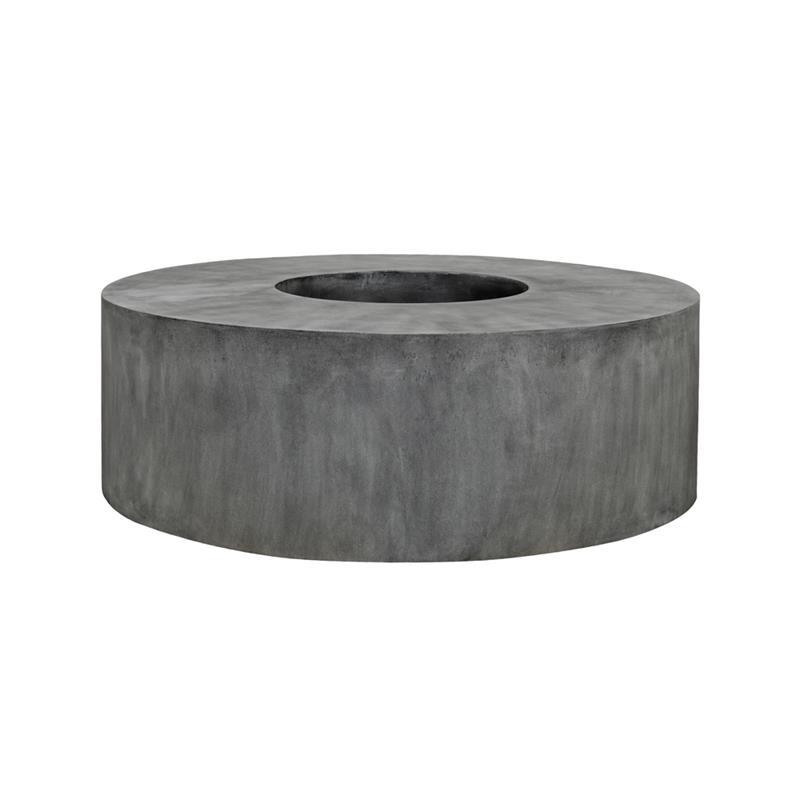 Venkovní květináče - Fiberstone Jumbo Seating Round Grey 140x48cm