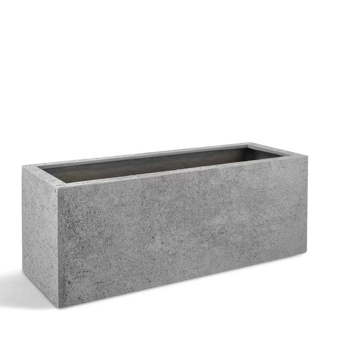 Venkovní květináče - D-lite truhlík S hrubý šedý 80x30x30cm