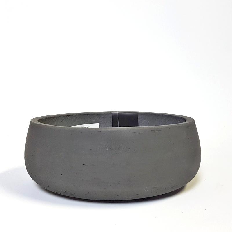 Venkovní květináče - Eco-line Bonsai mísa black 39x15m