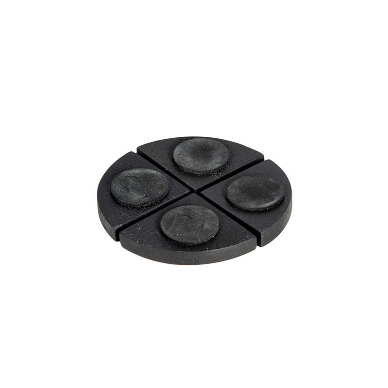 Doplňky - Podložky pod květináče - černé matné 4ks