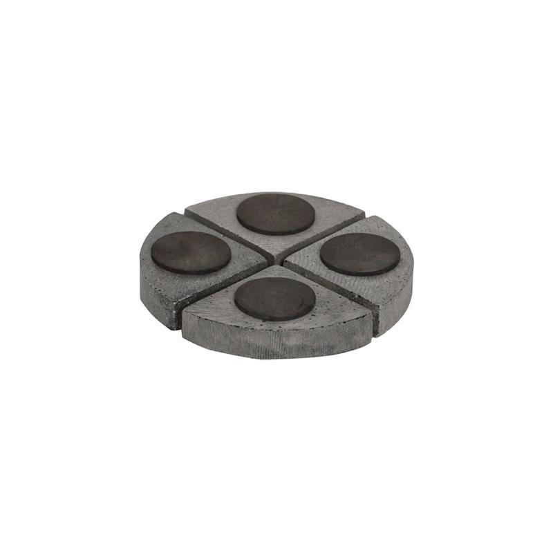 Doplňky - Podložky pod květináče - šedé matné 4ks