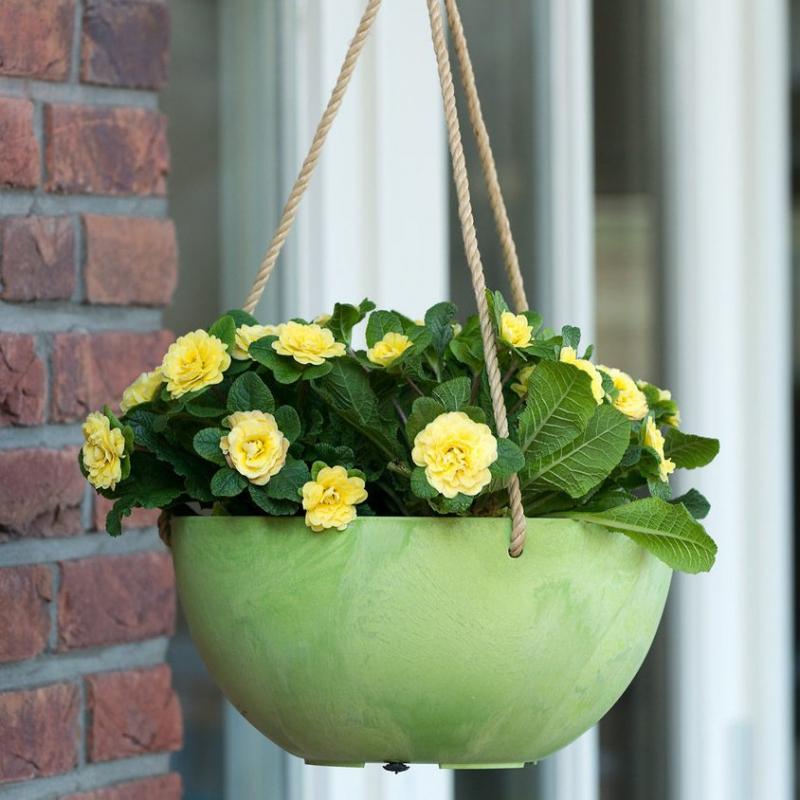 Závěsné květináče - Závěsný květináč Fiona zelená 25x12cm
