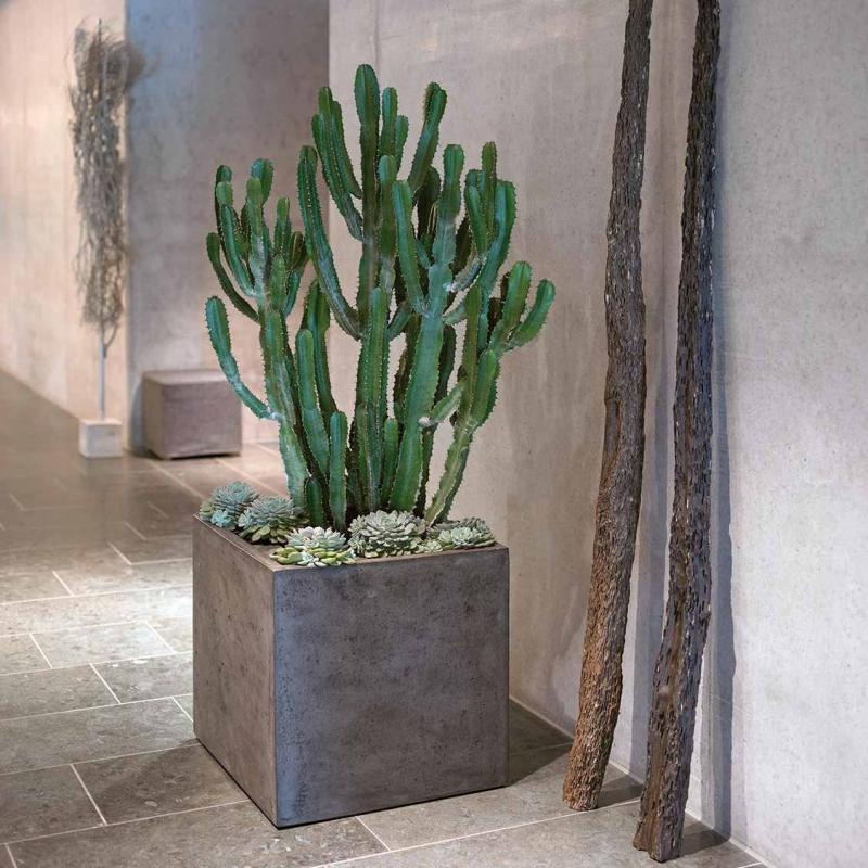 Venkovní květináče - Square Grey 40x40x40cm