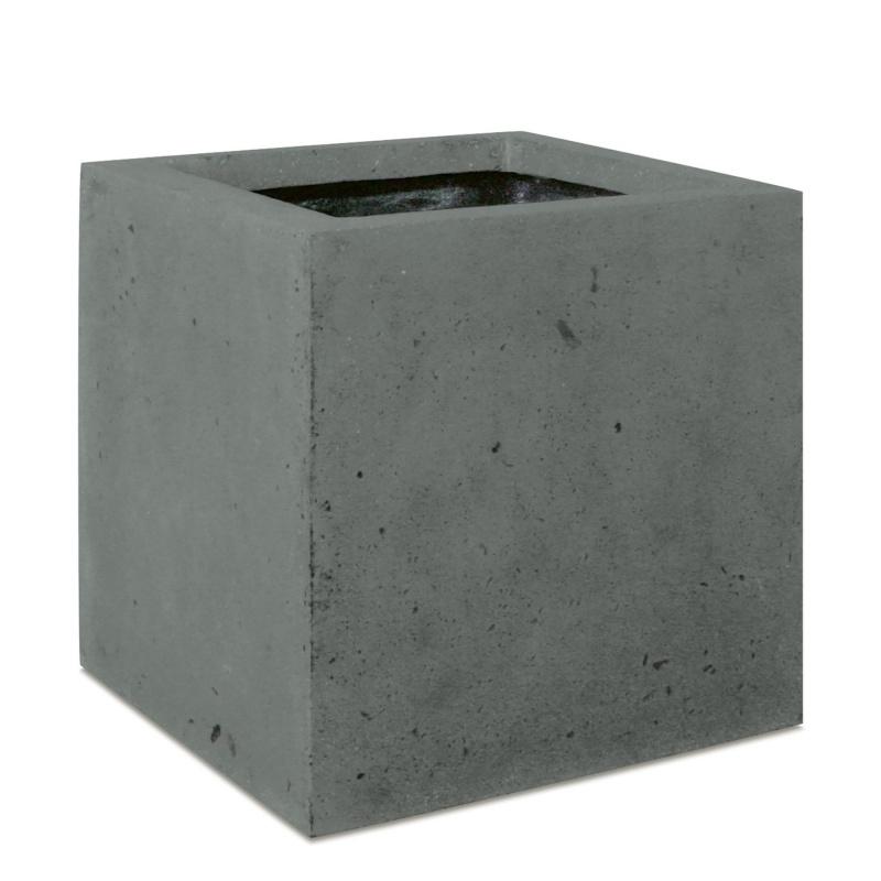 Venkovní květináče - Square Grey 18x18x18cm