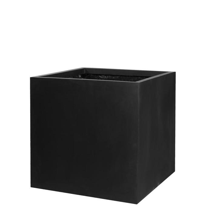Venkovní květináče - Fiberstone Square Black 40x40x40cm