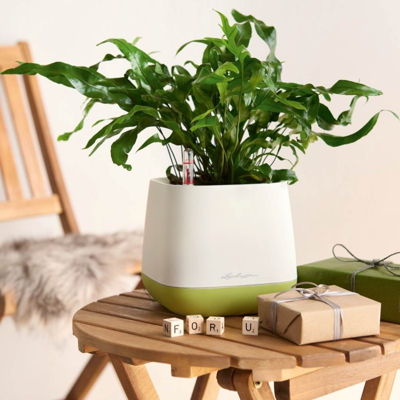 Lechuza květináče - Lechuza Yula Trend bílo-zelený komplet