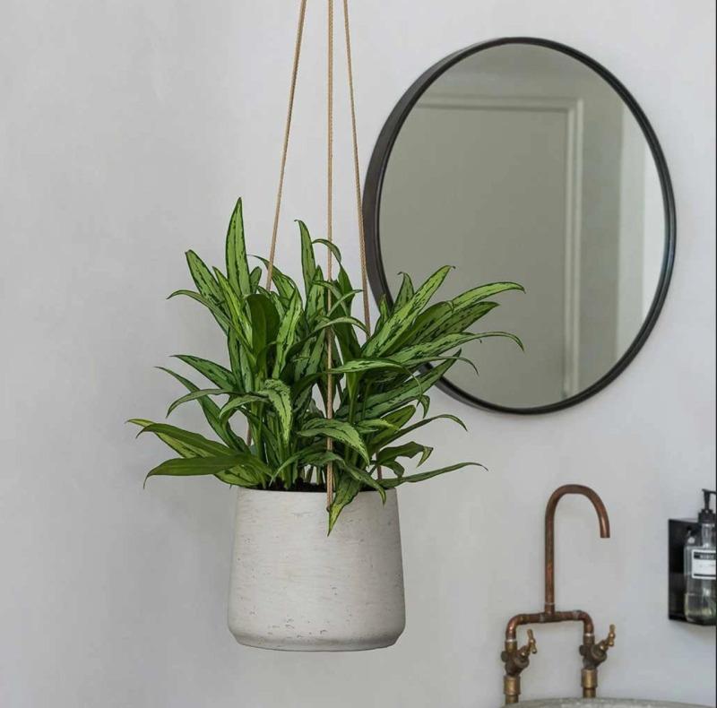 Závěsné květináče - Závěsný květináč Patt L šedý 20x17cm