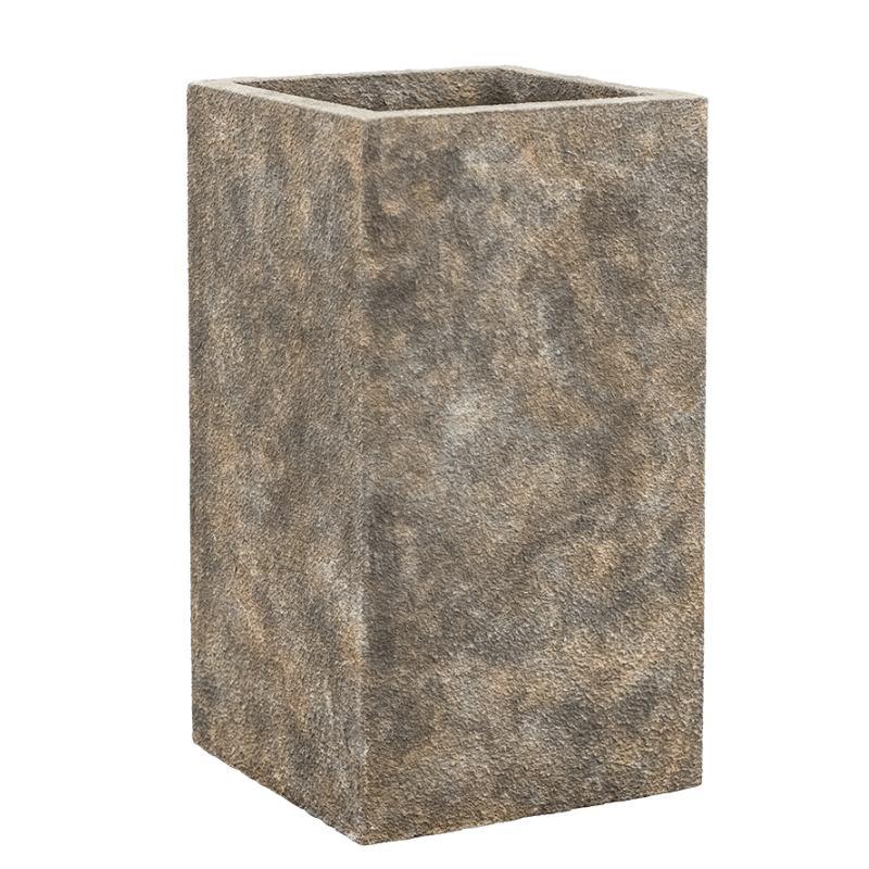 Luxusní květináče - Lite stone luna grey 27x27x50cm