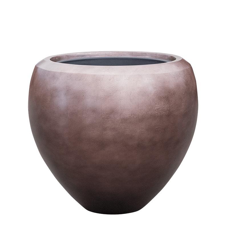 Luxusní květináče - Metallic couple coffee 60x55cm