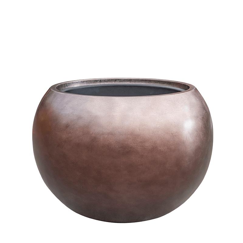 Luxusní květináče - Metallic globe coffee 60x43cm