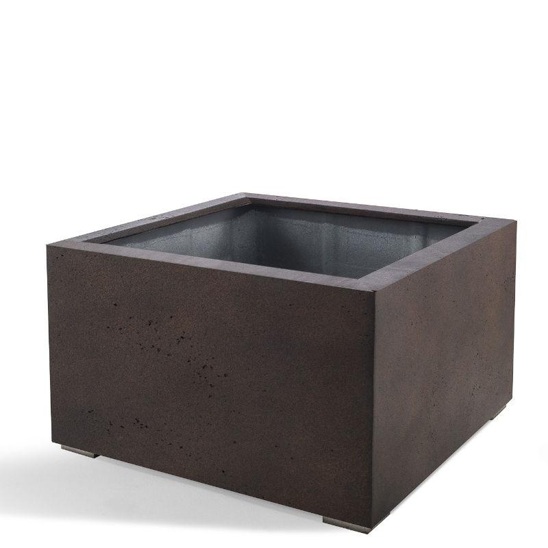 Venkovní květináče - D-lite Low Cube L Rusty Iron Concrete 100x100x60cm