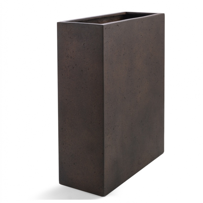 Venkovní květináče - D-lite vysoký truhlík M Rusty Iron Concrete 60x24x74cm