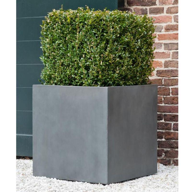 Venkovní květináče - Fiberstone Square Grey 40x40x40cm