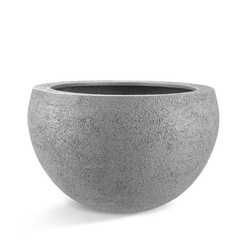 Venkovní květináče - D-lite bonsaj mísa hrubá šedá 50x31cm