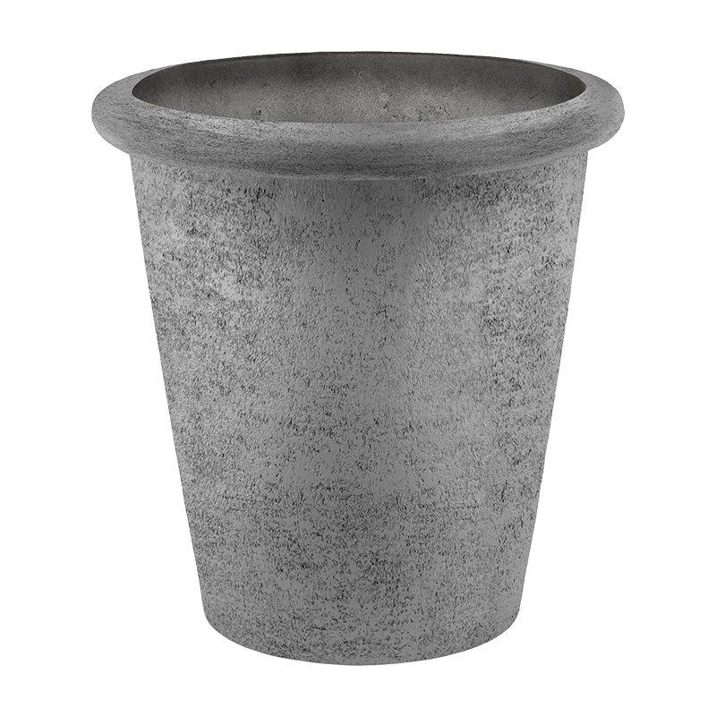 Venkovní květináče - D-lite Classic Roma XXL hrubý šedý 75x75cm