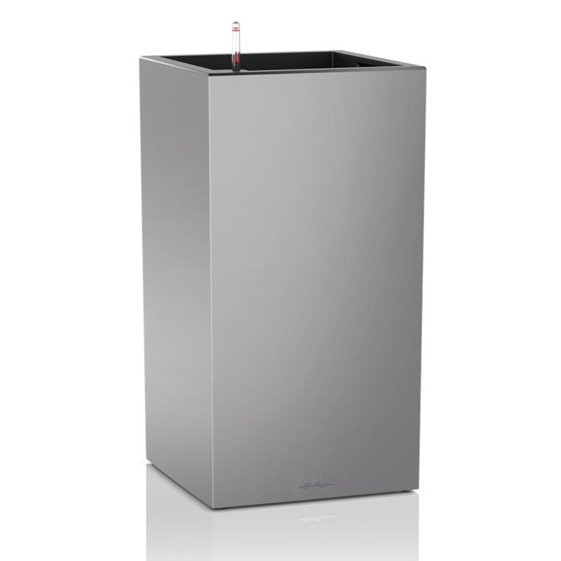 Lechuza květináče - Lechuza Canto Premium Tower 40 Silver komplet