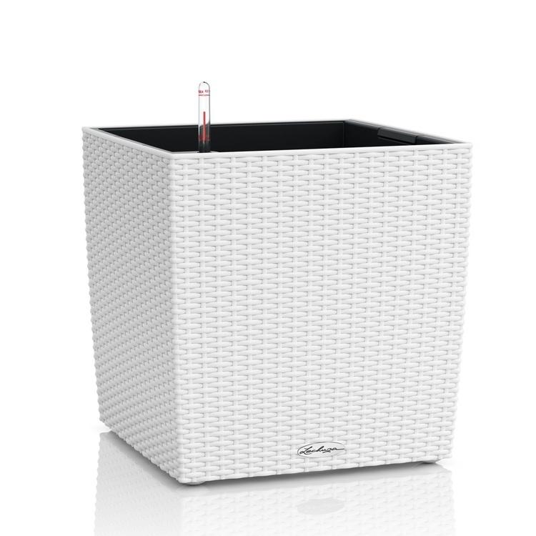 Lechuza květináče - Lechuza Cube Cottage 40 White komplet