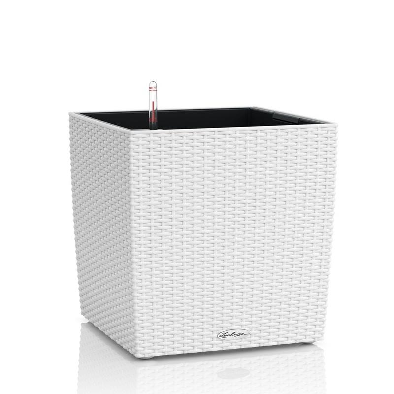 Lechuza květináče - Lechuza Cube Cottage 30 White komplet