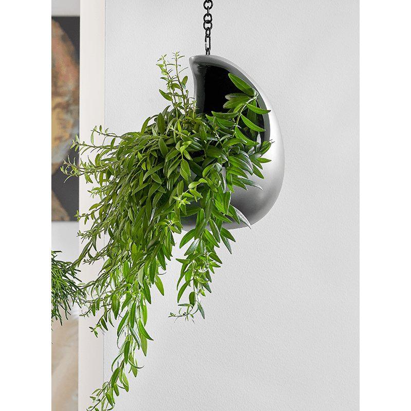 Luxusní květináče - Gradient závěsný cocoon šedý 20x24cm