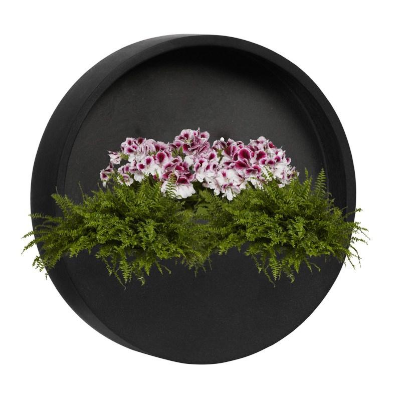Venkovní květináče - Fiberstone Wally XS Black Mat 30x30cm