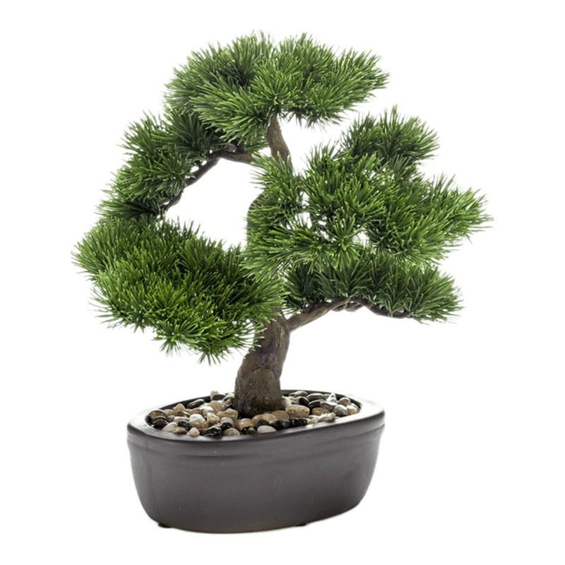 Umělé květiny - Umělá bonsaj Pinus 32cm