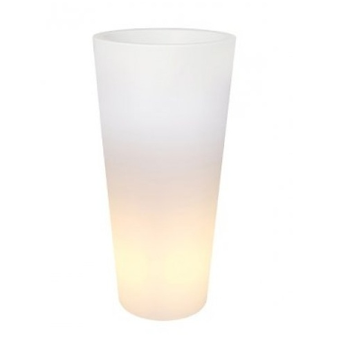 Svítící květináče - Pure Straight Round High Light LED 40x80cm