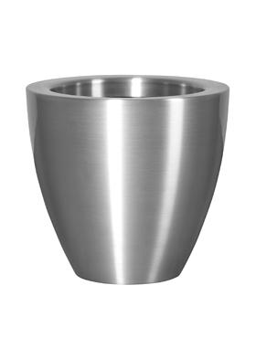 Kovové květináče - Aluminium Bubba Natur 49x45cm