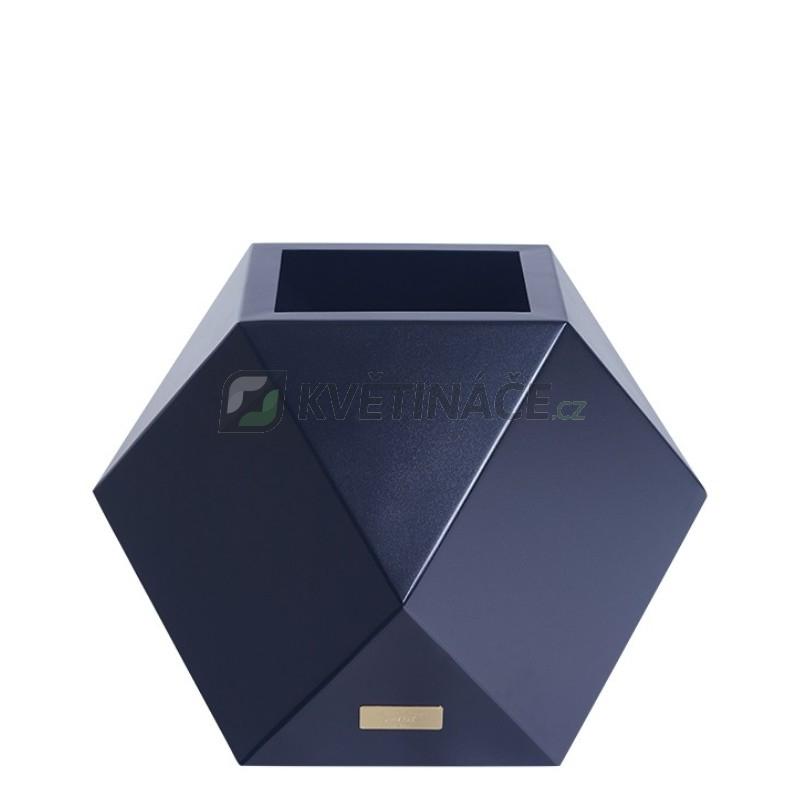 Kovové květináče - Květináč Kasper Diamant S černý 40x40xV40cm