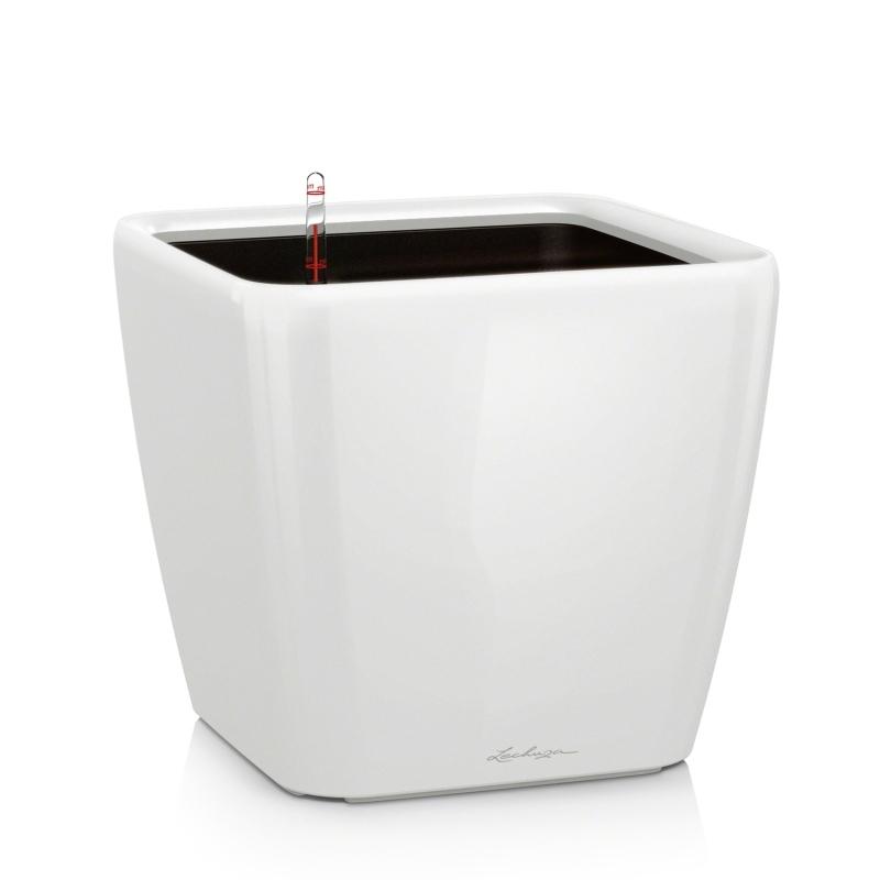 Lechuza květináče - Lechuza Quadro LS 28 White komplet