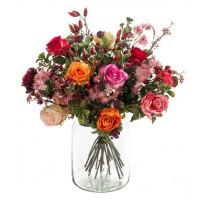 Umělá kytice mix růží 23 stonků