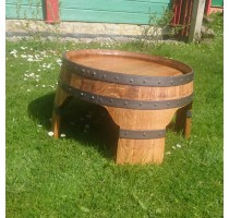 Barikovaný dubový stůl nízký 63x40cm