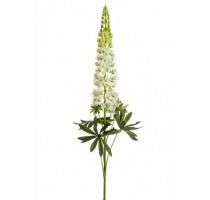 Umělý květ Lupiny bílý 105cm