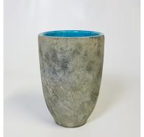 Váza Fien šedo tyrkysová 15x23cm