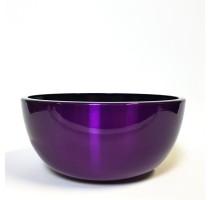 Aluminium Bowl Purple 43x18cm