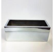Fiberstone truhlík Silver lesklý 50x20x20cm