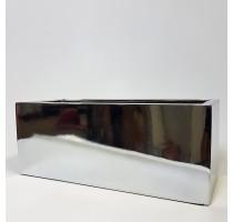 Fiberstone truhlík Silver lesklý 40x20x20cm