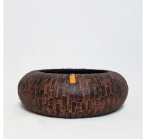 Bonsaj mísa Capi Stone uzavřená hnědá 35x10cm
