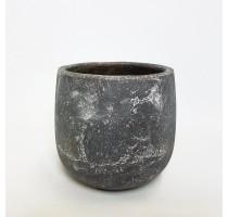 Keramický květináč Earth šedý 22x21cm