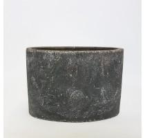 Keramický ovál Earth šedý 29x14x20cm