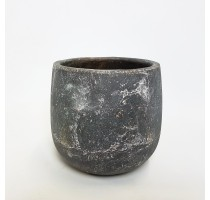 Keramický květináč Earth šedý 25x24cm