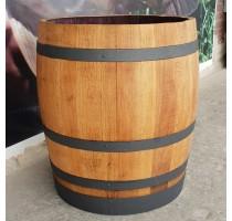 Barikovaný dubový květináč 170 litrů 63x72cm