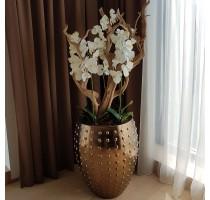 Umělá Orchidej bílá 100cm