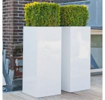 Fiberstone Bouvy White lesklý 50x50x100cm