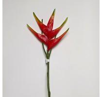 Umělý květ Heliconia červený 82cm