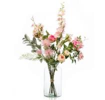 Umělá kytice růžový mix XL 13 stonků