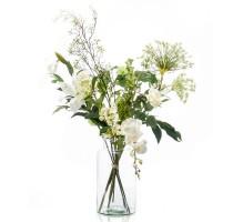 Umělá kytice bílý mix XL 12 stonků