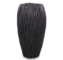 River Vase Black 39x70cm