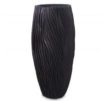 River Vase Black 46x100cm