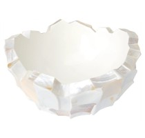 Shell White Bowl 40x24cm