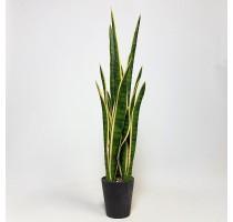 Umělá Sansevieria zeleno-žlutá 81cm